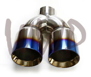 Universal Stainless Weld On Dual Tip 3 Single Inlet X 4 X 9 Length Burnt Tip