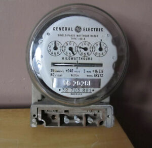 General Electric Single Phase Watthour Meter type I 50 a model Ar272
