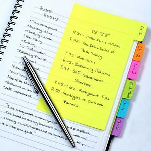 Divider Sticky Notes Tabbed Self stick Lined Note Pad
