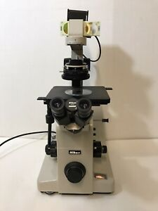 Nikon Diaphot Microscope Dic Contrast 0 52 Lwd Condenser 4 10 20 And 40x Dic
