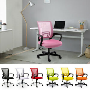 Adjustable Mesh Office Home Chair Executive Swivel Computer Desk Seat Mid Back