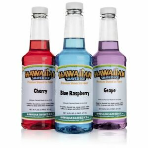 New Hawaiian Shaved Ice 3 Flavor Pack Of Snow Cone Syrup 3 Pints