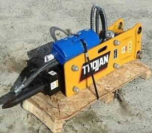 New Trojan Th35 Hydraulic Hammer For Excavator 2 5 To 4 5 Tons