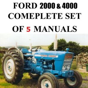 5 Ford 2000 Service Manual Tractors Service Parts Owners Manual 1965 1975 Cd