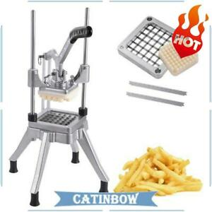 Stainless Steel French Fry Cutter Potato Vegetable Slicer Chopper 1 2 Blades