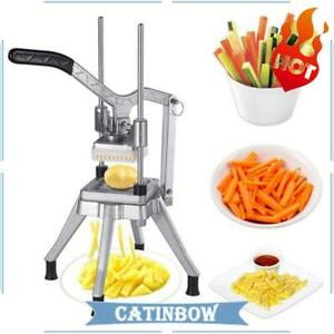 Stainless Steel French Fry Cutter Potato Vegetable Slicer Chopper 3 8 Blades