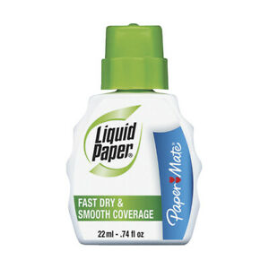 Paper Mate Liquid Paper Fast Dry Correction Fluid Pack Of 3