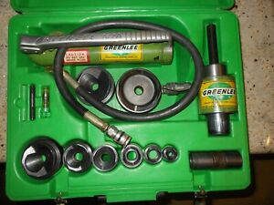Greenlee 7646 a Hydraulic Knockout Punch Driver Set 1 2 3 767 a Pump And Ram