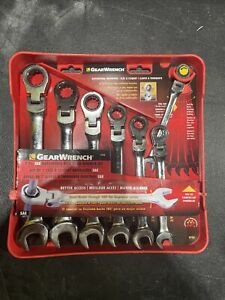 Gearwrench 9700 7 Pc Sae Flex Head Combination Ratcheting Wrench Set