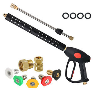 Pressure Washer Gun With 16 Extension Wand 5 Spray Nozzle Tips