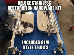 1967 72 Ford F100 F250 F350 West Coast Jr Mirror Deluxe Stainless Hardware Kit