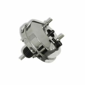 8 Single Diaphragm Chrome Power Brake Booster For Ford Chevy Street Rod Hot Rod