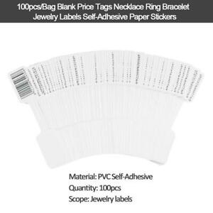 100pcs Blank Price Tags Necklace Ring Bracelet Jewelry Labels Paper Sticker