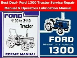 Best Deal ford 1300 Tractor Service Repair Manual Operator Lubrication Manual