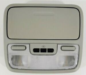 04 08 Honda Pilot Overhead Console With Map Lights And Homelink Light Gray