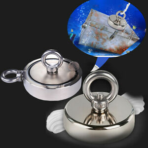 Salvage Neodymium Strong Magnets 3 115kg Pull Force Recovery Fishing Treasure