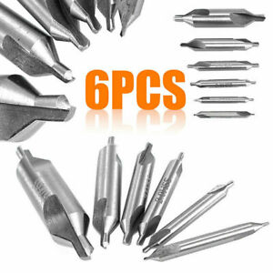 6pcs High Precision Mill Combined Hss Center Drill Bits For Lathe Drilling Hole