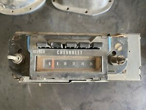 70 1970 71 1971 72 1972 Chevelle Chevy Am 8 Track Stereo Radio
