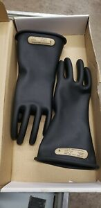 Ansell Marigold Size 8 Rubber Insulating Gloves Type I Class 0 Blk 11 24tm96