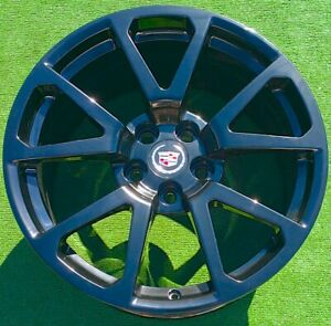 Black Factory Cadillac Ctsv Wheels Set 4 Perfect Genuine Oem 19 Inch Cts v Coupe