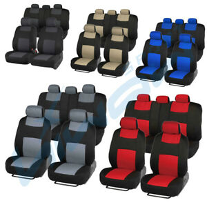 Auto Seat Covers Fit Car Truck Suv Van Universal Protectors Polyester 5 Colors