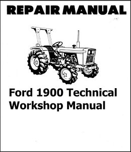 Ford 1900 Tractor Manual Set technical Workshop Parts Operator Maintenance
