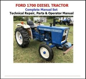 Ford 1700 Tractor Complete Manual Set technical Shop Parts Operator Manual