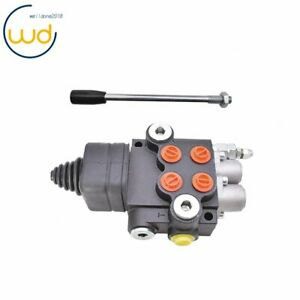 21gpm 2 Spool Hydraulic Directional Control Valve For Tractor Loader W joystick