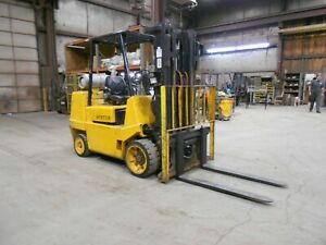 1999 Hyster S80xl 8 000 8000 Cushion Tired Forklift 3 Stage Side Shift