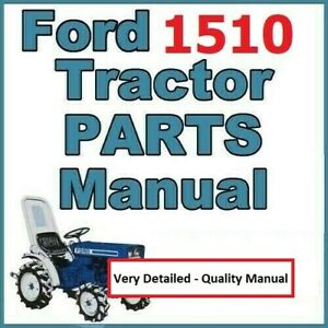 Ford 1510 3 Cylinder Compact Diesel Tractor Illustrated Service Parts Manual