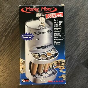Money Miser Motorized Coin Sorter Sorts Stacks And Counts Coins Made In The Usa