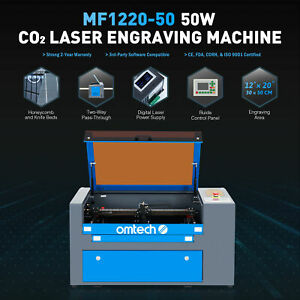 Mf 1220 50 50w 12 x20 Co2 Laser Engraver Cutter With Cw 3000 Water Chiller