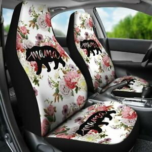 Mama Bear Flower Rose Car Seat Covers Car Accessories Gift For Her Custom Sea