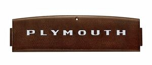 1948 Plymouth New Dash Medallion Name Plate Mopar P15 Special Deluxe Coupe