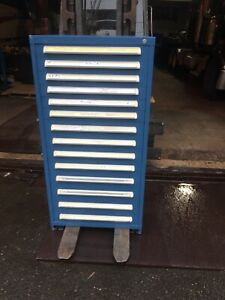 Stanley Vidmar Tool Cabinet 14 Drawer Good Condition