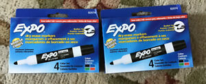 Lot Of 2 Expo Dry Erase 4 Color Pack 82074