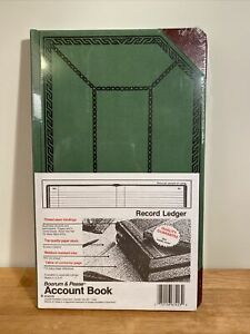 Boorum Pease 67 1 8 300 r Green Record Account Book 12 1 2 X 7 5 8 300 Pg