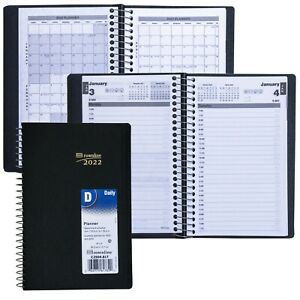 2022 Brownline C2504 81t Daily Planner Appointment Book 8 X 5