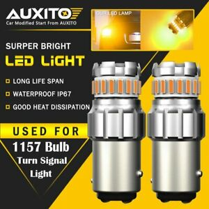 Auxito 1157 Amber Yellow Led Turn Signal Indicator Parking Light Bulbs Canbus Xd