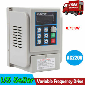 Ac 220v 0 75kw Single Phase To 3 three Phase Output Frequency Converter Vfd