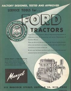 1953 Naa Ford Tractor Service Tools Manual
