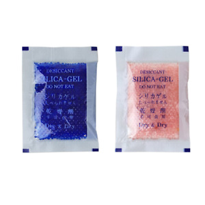 Dessicant Blue To Pink Silica Gel Packets 5 Gram Air Dryer Premium 50 Packs