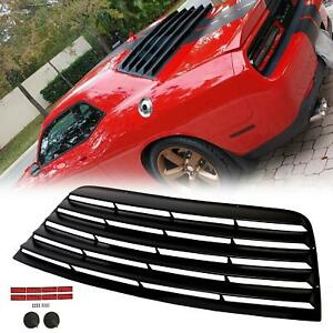 Fits 08 21 Dodge Challenger Rear Window Scoop Louver Sun Shade Cover Vent Black