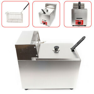 10l Commercial Gas Fryer Propane lpg French Fries Deep Fryer 1 basket Stainless