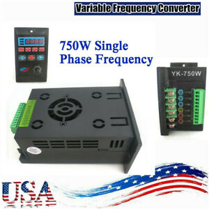 750w Single Phase To Three Phase Output Frequency Converter 1hp Ac 220v Us