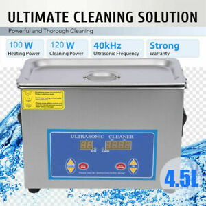 Commercial 4 5l Ultrasonic Cleaner Industry Heated Heater W timer Jewelry Us
