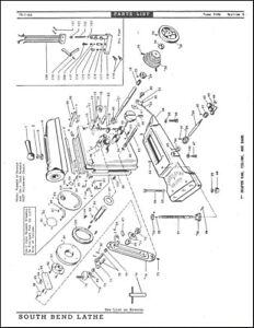 South Bend Lathe 7in Shaper Parts Manual 1966