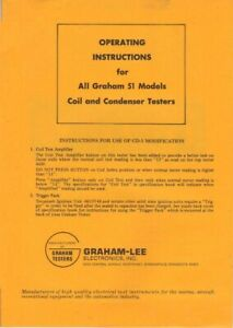 Graham Lee All 51 Models Coil amp; Condenser Testers Operator Instructions Maint Ma $6.97