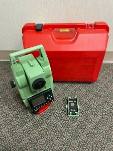 Leica Tcr307 Reflectorless 7 Total Station Tcr 307 Survey Case Battery