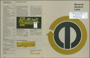Monarch Series K Lathe Specifications Manual P5